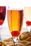 A glass of applelini with another drinks at background Royalty Free Stock Photos
