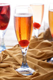 A glass of applelini with another drinks at background Royalty Free Stock Image
