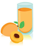 Glass of Apricot Juice Stock Images