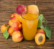 Glass apricot juice. Stock Image