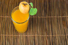 Glass apricot juice. Stock Photo
