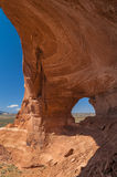 Glass Arch. Against beautiful blue sky - Utah near Moab Royalty Free Stock Photography