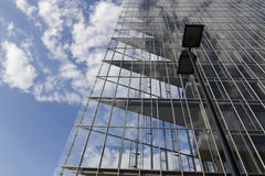Glass architecture. Modern office building in glass architecture Stock Images
