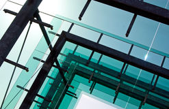 Glass architecture against the  sky Stock Photo