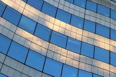 Glass arkitektur Paris Frankrike för företags kontor för byggnad modernt Royaltyfri Fotografi