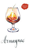 Glass of armagnac Stock Photo
