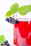 Glass of aronia juice with berries Stock Image