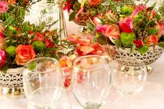 Glass Arrangement Royalty Free Stock Images