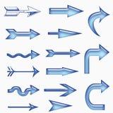 Glass arrow Stock Photo