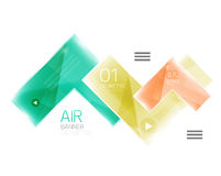 Glass arrow design template Stock Images