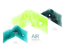 Glass arrow information web box. Vector infographic geometric abstract background Stock Photo