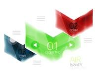 Glass arrow information web box Stock Photography