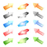 Glass arrows Royalty Free Stock Photography