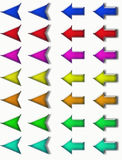 Glass arrows Royalty Free Stock Image