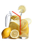 Glass ars whit lemon Stock Photos