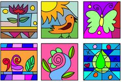 Glass art doodles Royalty Free Stock Image