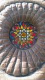 Glass art. Multicolored glass art Stock Photo