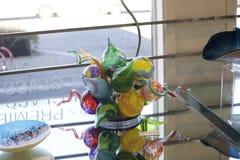 Glass Art Piece in Clifton Art Glass Gallery Stock Photos
