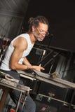 Glass Art Worker Royaltyfria Foton