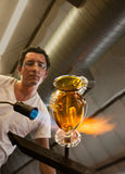 Glass Artisan Working Stock Images
