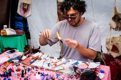 Glass Artist Anatolian Culture Fair Stock Photo