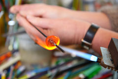 Glass Artist in her workshop Royalty Free Stock Images