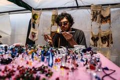 Glass Artist In Anatolian Culture Fair Stock Photos
