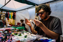 Glass Artist In Anatolian Culture Fair Royalty Free Stock Image