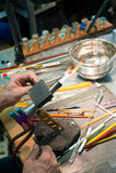 Glass Artist's Workbench Stock Photos