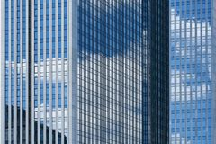 Glass as a facade of the modern high-rise. Building in Frankfurt am Main Stock Photography