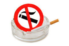 Glass ashtray Royalty Free Stock Images