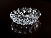 A glass ashtray Royalty Free Stock Image