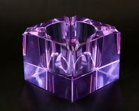 Glass ashtray blown of Murano amethyst color Royalty Free Stock Photo