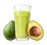 Glass of Avocado Smoothie Stock Images