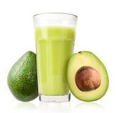 Glass of Avocado Smoothie Stock Photography