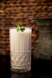 A glass of Ayran. Turkish traditional drink made of yoghurt and mint Royalty Free Stock Image