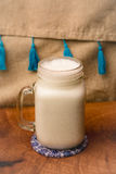 A glass of Ayran. Turkish traditional drink made of yoghurt and mint Royalty Free Stock Photography