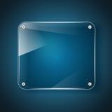 Glass background on blue background Royalty Free Stock Image