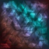 Glass bakgrund för lysande neon med bokeheffekt Arkivfoto