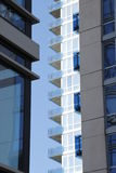 Glass balconies Royalty Free Stock Images