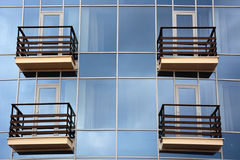 Glass and balcony Royalty Free Stock Photo