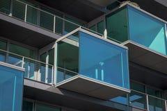 Glass balkong Arkivfoton