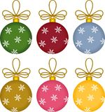 Glass Ball Christmas Ornaments Stock Images