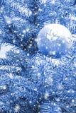 Glass ball on the Christmas tree Royalty Free Stock Photos