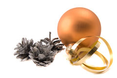 Glass ball with cones Royalty Free Stock Photo