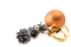 Glass ball with cones Stock Images