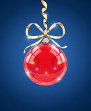 Glass ball. Decoration for christmas firtree Royalty Free Stock Photos