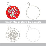 Glass ball. Drawing worksheet. Royalty Free Stock Images