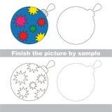 Glass ball. Drawing worksheet. Stock Photo