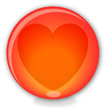 Glass ball with heart Royalty Free Stock Photography